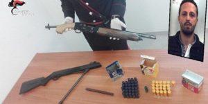 Deteneva un fucile clandestino e svariato munizionamento, 31enne arrestato