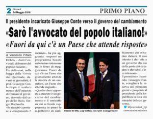 """Governo – Il prof. Conte: """"Sarò l'avvocato difensore del popolo italiano!"""""""