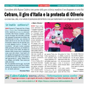 Cetraro, il giro d'Italia e la protesta del governatore Oliverio