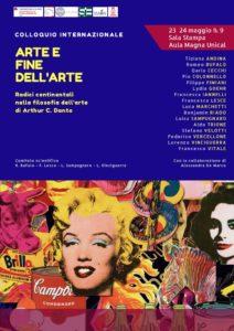 Arte e fine dell'arte, il 23 e 24 Maggio Colloquio internazionale Unical