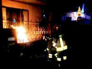 Incendio in una condotta di metano a San Vito sullo Ionio