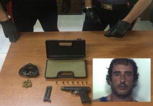 Idraulico 49enne arrestato per armi e droga
