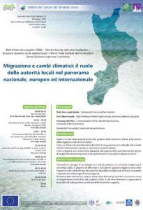 Migrazione e cambi climatici:  Il ruolo delle autorità locali nel panorama nazionale, europeo ed internazionale