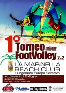 Soverato – Lunedì 25 Giugno la prima edizione del torneo di FootVolley