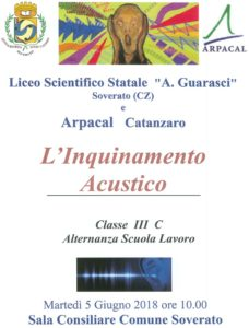 Soverato – Incontro Arpacal-Liceo Scientifico sull'inquinamento acustico