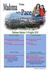 """Satriano Marina – Dal 5 all'8 Luglio la """"Festa Madonna della Pace"""""""