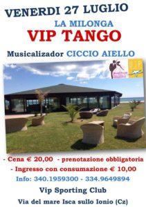 """Isca sullo Ionio – Venerdì 27 luglio """"La Milonga Vip Tango"""""""