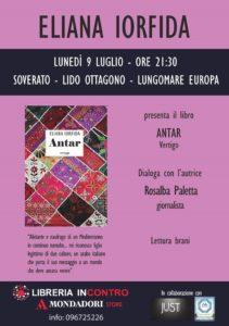 Soverato – Lunedì 9 Luglio presentazione del libro Antar di Eliana Iorfida