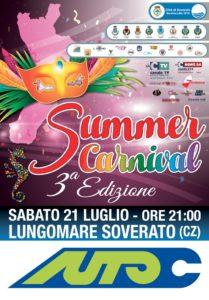 """Soverato – Sabato 21 Luglio la terza edizione del """"Summer Carnival"""""""