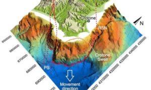 Nuovi studi confermano una mega frana al largo dello Jonio