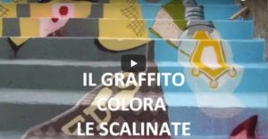 VIDEO | Gagliato, il graffito colora le scalinate