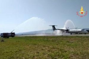 Atterrato all'aeroporto di Lamezia Terme il primo volo Aegean Airlines