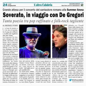 Soverato, De Gregori alla Summer Arena promette emozioni