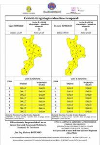 Allerta Meteo della Protezione Civile per possibili temporali sulla Calabria