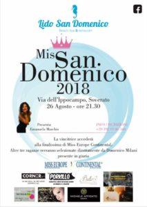 Soverato – Domenica 26 Agosto torna Miss San Domenico