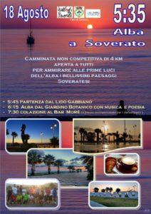 Il 18 Agosto camminata all'alba a Soverato