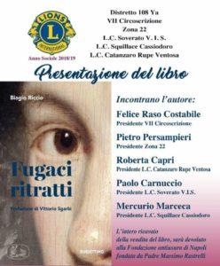 """I Lions Club presentano a Copanello il libro """"Fugaci ritratti"""""""