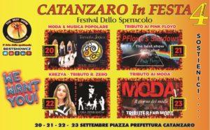 Dal 20 al 23 settembre la quarta edizione di Catanzaro in Festa