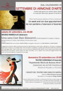 """Nel weekend """"Settembre di Armonie d'Arte"""" a Catanzaro e Soverato"""