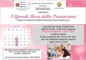 A Soverato i giovedì rosa della prevenzione