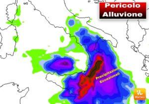 Allerta Meteo – Pericolo alluvioni nelle prossime ore in Calabria