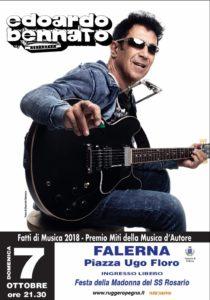 Edoardo Bennato in concerto gratuito domani sera a Falerna