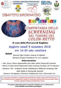 Asp Catanzaro: prevenzione tumori, incontro informativo nel comune di Gagliato