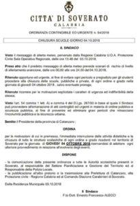 Maltempo – Anche domani scuole chiuse a Soverato
