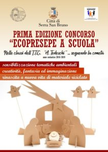 """Serra San Bruno – Prima edizione del concorso """"Ecopresepe a Scuola"""""""