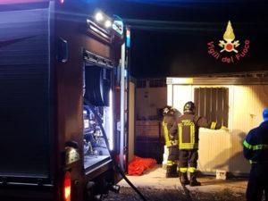 Catanzaro – In fiamme un container in località Germaneto