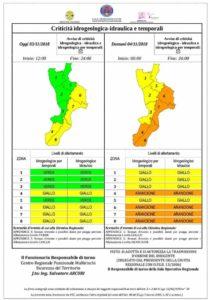 Maltempo – Una nuova allerta arancione incombe sulla Calabria Jonica, possibili nubifragi