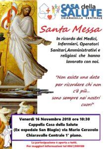 Chiaravalle – Santa Messa alla Casa della Salute in ricordo del personale che è ritornato alla casa del Padre