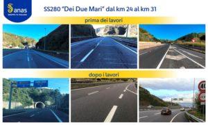 """Completati i lavori di pavimentazione lungo la Ss 280 """"Dei Due Mari"""" a Catanzaro"""
