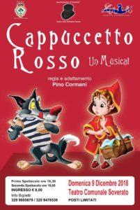 """Teatro Soverato – Domenica 9 Dicembre il musical """"Cappuccetto Rosso"""""""
