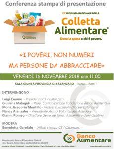 Il 16 Novembre a Catanzaro la presentazione della Colletta Alimentare