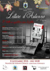 """Girifalco – Torna la rassegna culturale """"Letture d'Autunno"""""""