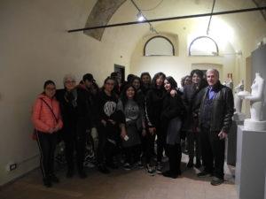 """Gli studenti del liceo """"Fiorentino"""" al Museo delle Arti di Catanzaro per visitare la mostra di Antonio Saladino"""