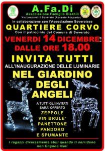 Soverato – Venerdì 14 Dicembre inaugurazione delle Luminarie Natalizie del quartiere Corvo