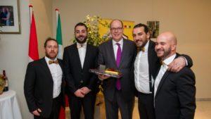I Parafonè alla corte del Principe Alberto II di Monaco, le congratulazioni del sindaco Luigi Tassone