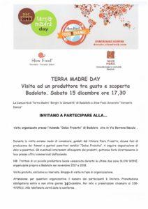 Eventi territoriali Terra Madre Day, visita di gusto e scoperta a Badolato