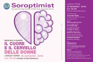 Incontro sulla medicina di genere promosso dal Soroptimist Club Lamezia