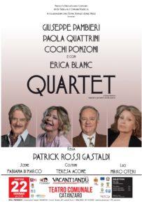 """""""Quartet"""" il 22 gennaio al Teatro Comunale di Catanzaro per la rassegna teatrale Vacantiandu"""