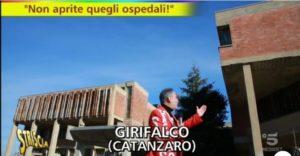 Striscia la notizia a Girifalco: Struttura ospedaliera abbandonata da anni