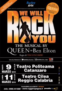"Attesa per la prima assoluta in Calabria di ""We Will Rock You"" il musical dei Queen"