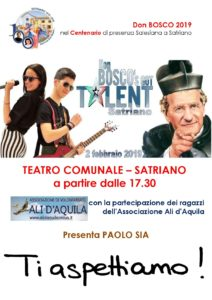 """Sabato 2 Febbraio a Satriano il """"Don Bosco's Got Talent"""""""