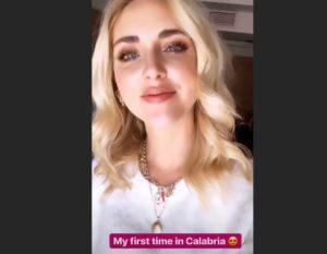 L'influencer Chiara Ferragni per la prima volta in Calabria