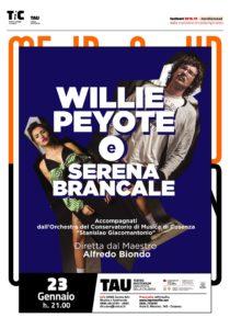Il 23 gennaio al Teatro Auditorium Unical Willie Peyote e Serena Brancale