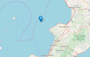 Scossa di terremoto nella notte a largo della costa tirrenica calabrese