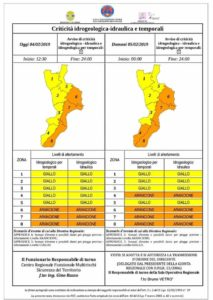 Pesante Allerta Meteo della Protezione Civile per la Calabria, rischio nubifragi