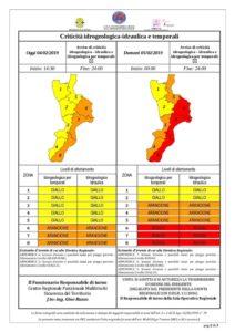 """Maltempo – Peggiora la situazione meteo, alzata l'allerta a """"Rossa"""" per la Calabria Jonica"""